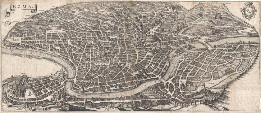 1652_Merian_Panoramic_View_or_Map_of_Rome,_Italy_-_Geographicus_-_Roma-merian-1642