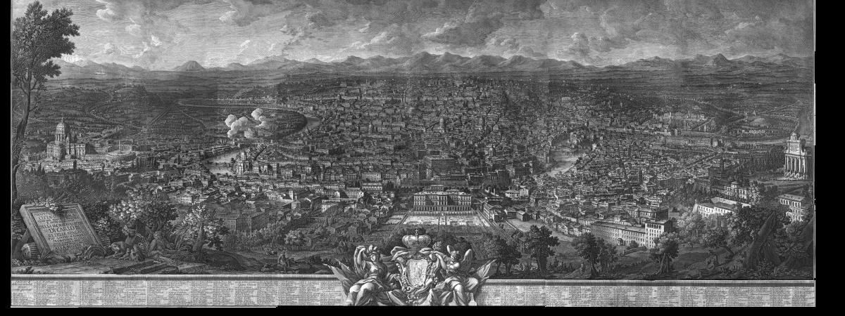 Prospetto di Roma – Vasi1765